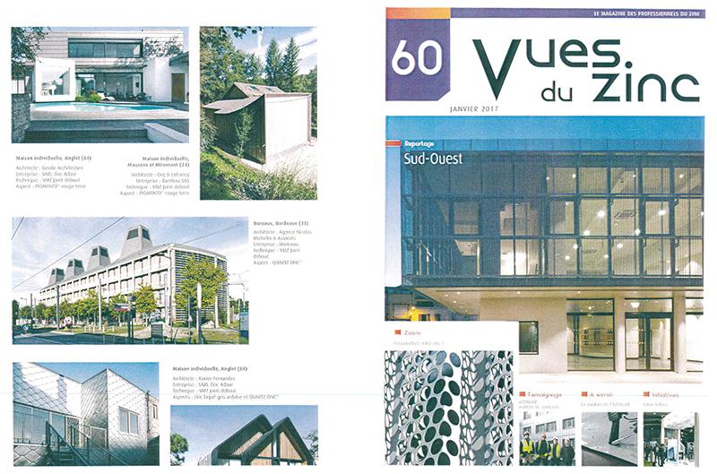 Magazine Vues du Zinc Janvier 2017